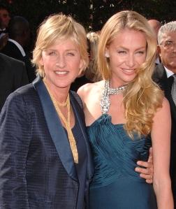 Ellen Degenres and Portia de Rossi