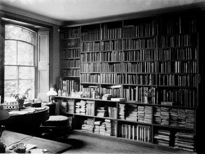 M0003078 Interior of Charles Darwin study